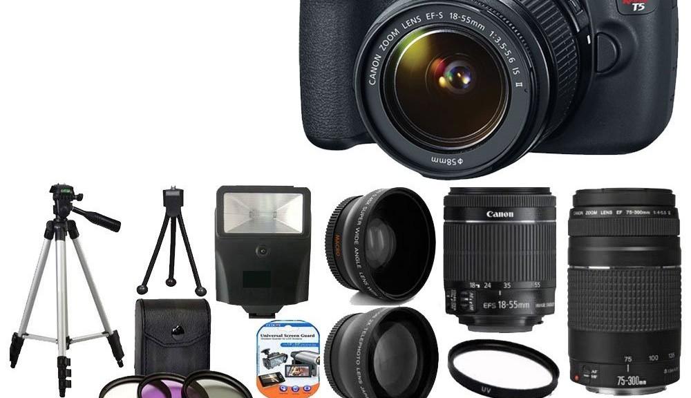 Canon EOS Rebel T5 18MP EF-S DLSR