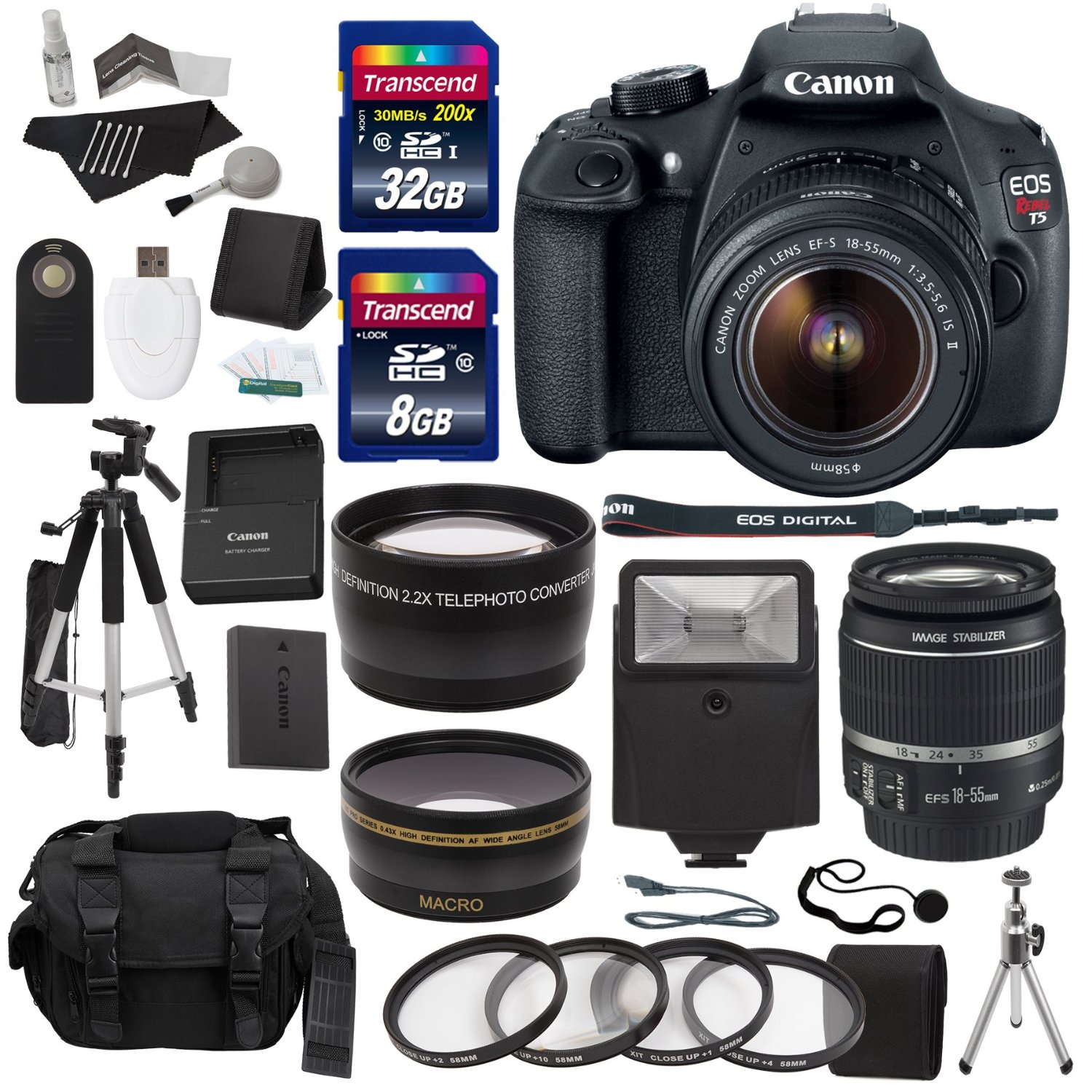 Canon EOS Rebel T5 Digital SLR Camera Body With EF-S 18-55mm